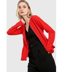 chaqueta rojo active