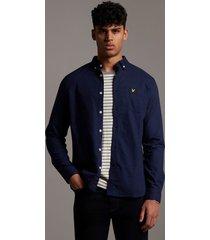 lyle and scott lw1302vtr regular fit light weight oxford shirt, z99 navy