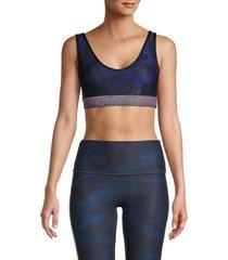 wear it to heart women's bloom-print studio sports bra - bloom - size xs