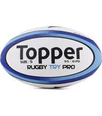 pelota rugby blanca topper try pro