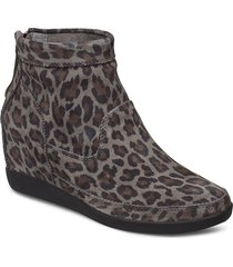 emmy leo s shoes boots ankle boots ankle boot - heel grå shoe the bear