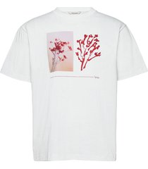 fleur tee t-shirts short-sleeved wit holzweiler