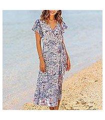 rayon wrap dress, 'wijaya kusuma' (indonesia)