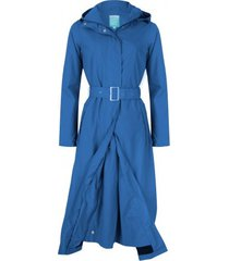 happyrainydays regenjas long coat jersey lining balou blue