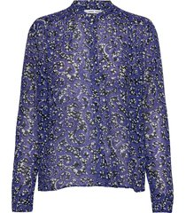 elmy shirt aop 9695 blouse lange mouwen blauw samsøe samsøe