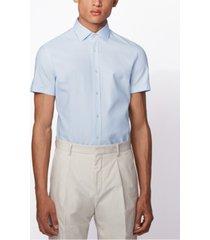 boss men's jats light pastel blue shirt