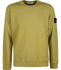 stone island logo patched plain sweatshirt
