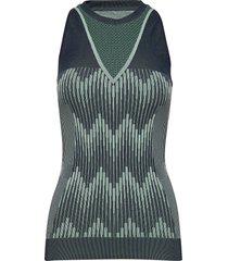 hmlastrid seamless top t-shirts & tops sleeveless grön hummel