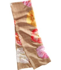 echo stamped floral oblong scarf