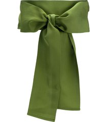 sara roka bow detail belt - green