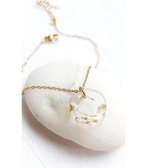amorphic - szklana bransoletka ze złotem