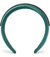 glass crystal satin headband