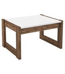 mesa de centro, tecno mobili, az1022, no marrom/branca