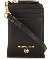 michael michael kors cross-body wallet - black