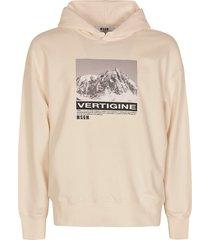 msgm graphic photo print hooded sweatshirt