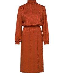 ruska midi dress knälång klänning orange hálo