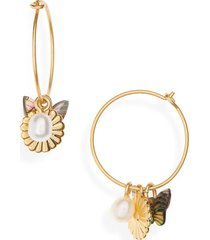 women's madewell collection mix & match charm hoop earrings