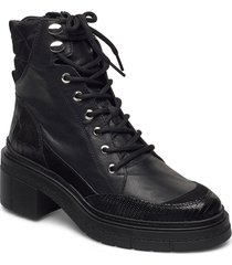 jason_cre shoes boots ankle boots ankle boot - heel svart unisa