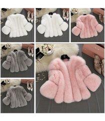 new womens warm gilet outwear slim vest overcoat faux fur waistcoat jacket coat