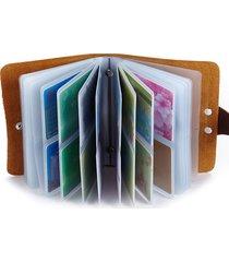 60 porta carte di credito vera pelle porta carte di grande capacità per uomini donne