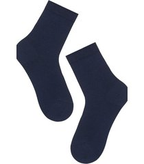 calzedonia short stretch cotton socks man blue size 42-43