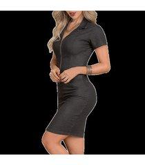 envío gratis vestido barbara negro  para mujer croydon