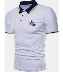 camicia da golf da uomo casual in cotone da uomo