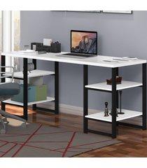 mesa para computador innovare 4 prateleiras preto/branco - art panta