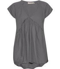 julianna t-shirts & tops short-sleeved grå rabens sal r
