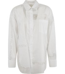 buttoned laced shirt