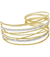 bracciale bangles medium in ottone dorato e glitter per donna
