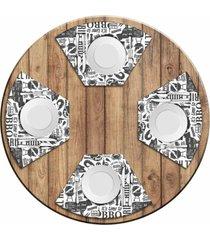 jogo americano love decor para mesa redonda wevans bbq kit com 4 pçs