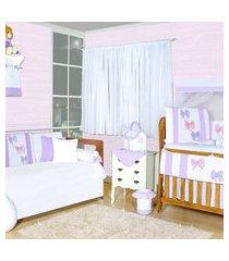 quarto completo padroeira baby laços roxo