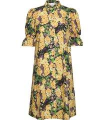 cassiagz aop dress ao20 kort klänning gul gestuz