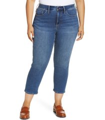 plus size women's madewell authentic stovepipe jeans, size 20w - blue