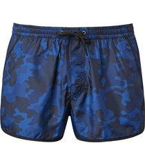 shorts clássico camouflage venice beach - azul