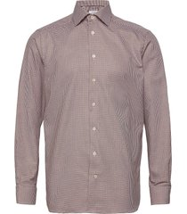 contemporary fit business textured twill shirt overhemd business roze eton