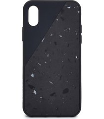 clic terrazzo iphone xs case - black