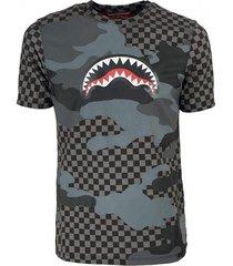 black camo shark t-shirt