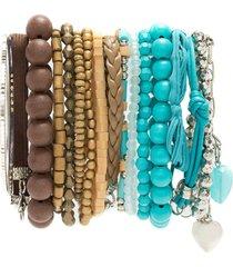 amir slama bracelets set - blue