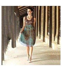 beaded dress, 'shibori chic' (india)