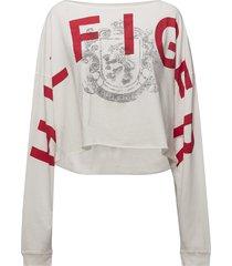 hilfiger t-shirt ls t-shirts & tops long-sleeved wit tommy hilfiger