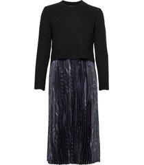 leowa viola dress knälång klänning svart allsaints