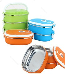 bento lunch box #b picnic thermal stainless steel food container case insulated