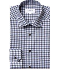 eton shirt classic fit blauw geruit