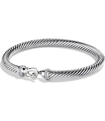 david yurman cable buckle bracelet with diamonds, size medium at nordstrom