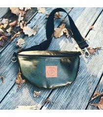 nerka / torebka mili belt bag l - zielony metalik