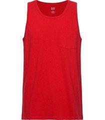 bettermade pocket tank top t-shirts sleeveless röd gap