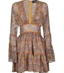 dsquared2 all-over printed lace dress