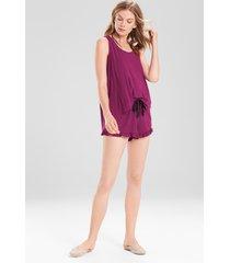 josie tees swing tank pajamas, women's, purple, size s natori